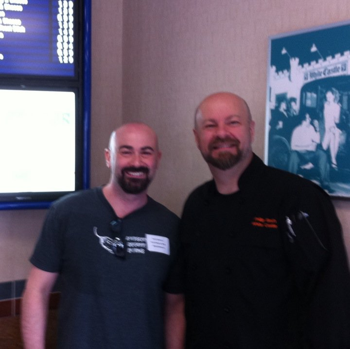 Scott with White Castle Executive Chef Phillip Bach