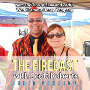 Sam and Tina McCanless of Zane and Zack's World Famous Honey Co.