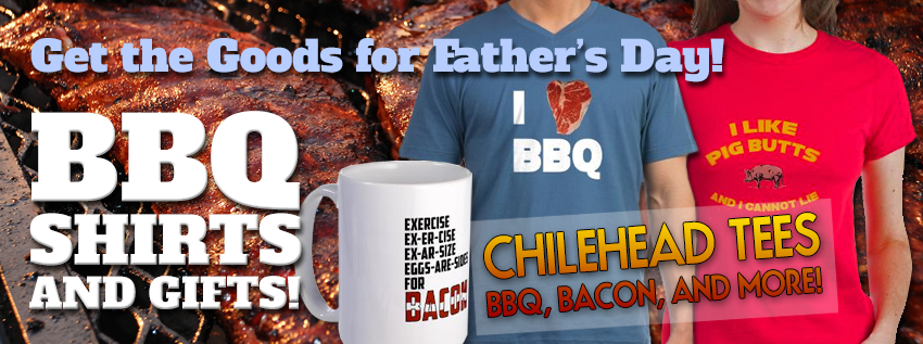 Get funny BBQ t-shirts, bacon t-shirts, and hot sauce tees