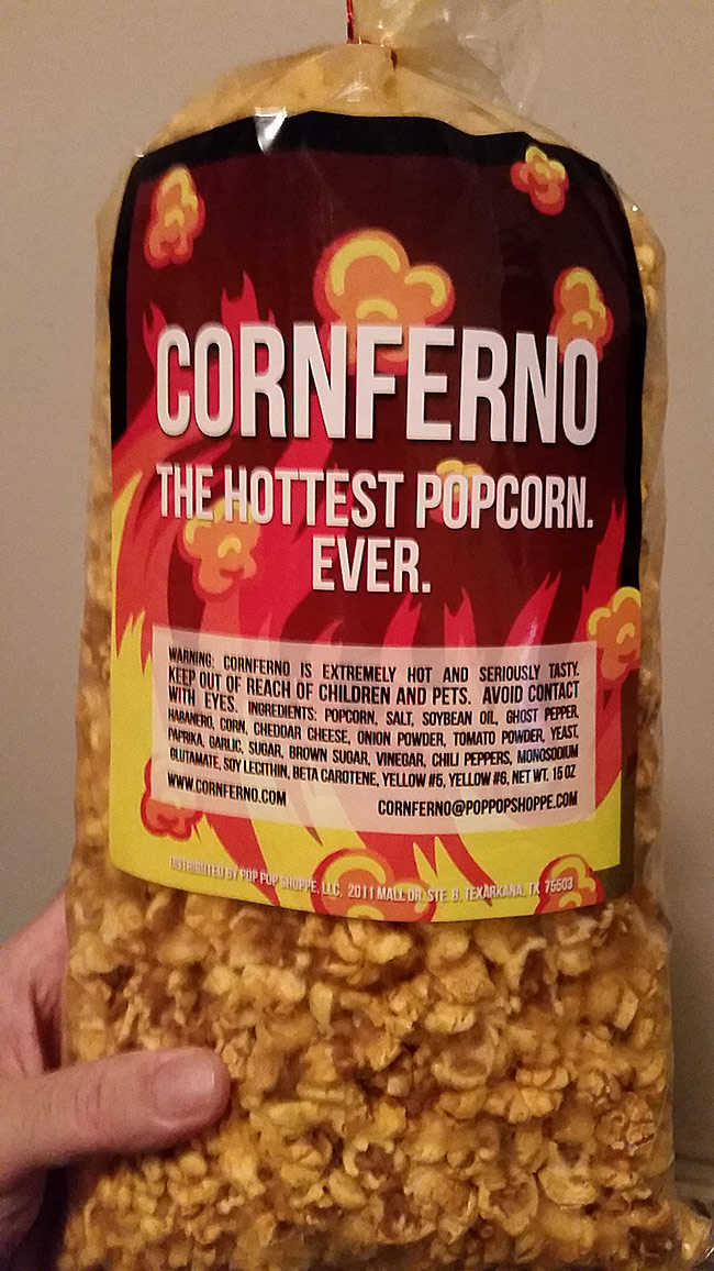 Review Cornferno The Hottest Popcorn Ever Scott Roberts Hot
