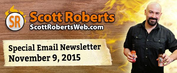 ScottRobertsWeb.com Nov 9, 2015 E-Mail Newsletter