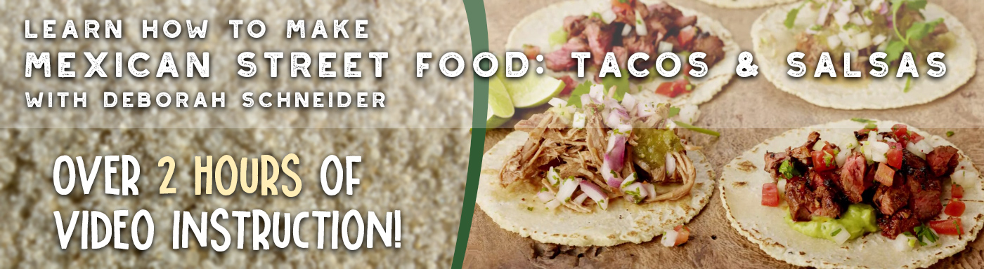 Learn How to Make Mexican Street Food: Tacos and Salsa