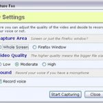 CaptureFox Records Your Screen and Voice in Firefox to Create Videos