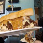 Trying the Inferno Sandwich Challenge from De.Lish Cheesecake Cafe